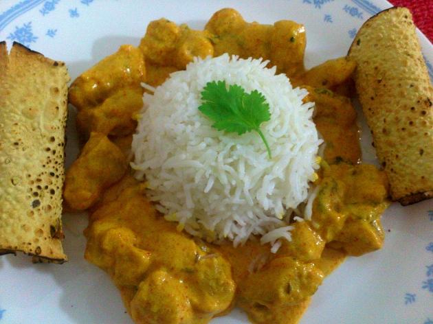 Gatte ki Sabji (Gram flour Dumplings in Yogurt Sauce)