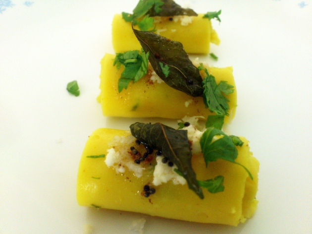 Khandvi (Savory Roll ups)