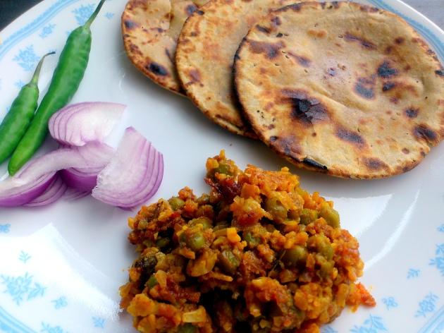 Rajasthani Saag Rotla
