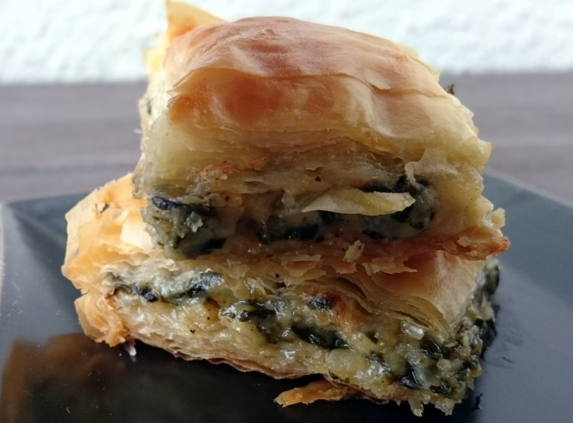 Egg Less Spanakopita